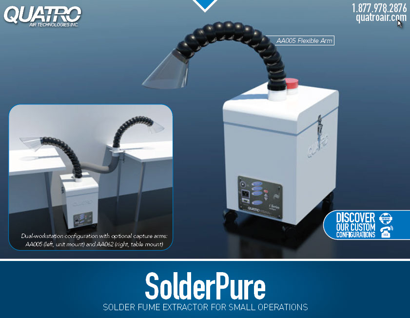 Solderpure Fume Extractor Chemical Odor Air Filtration